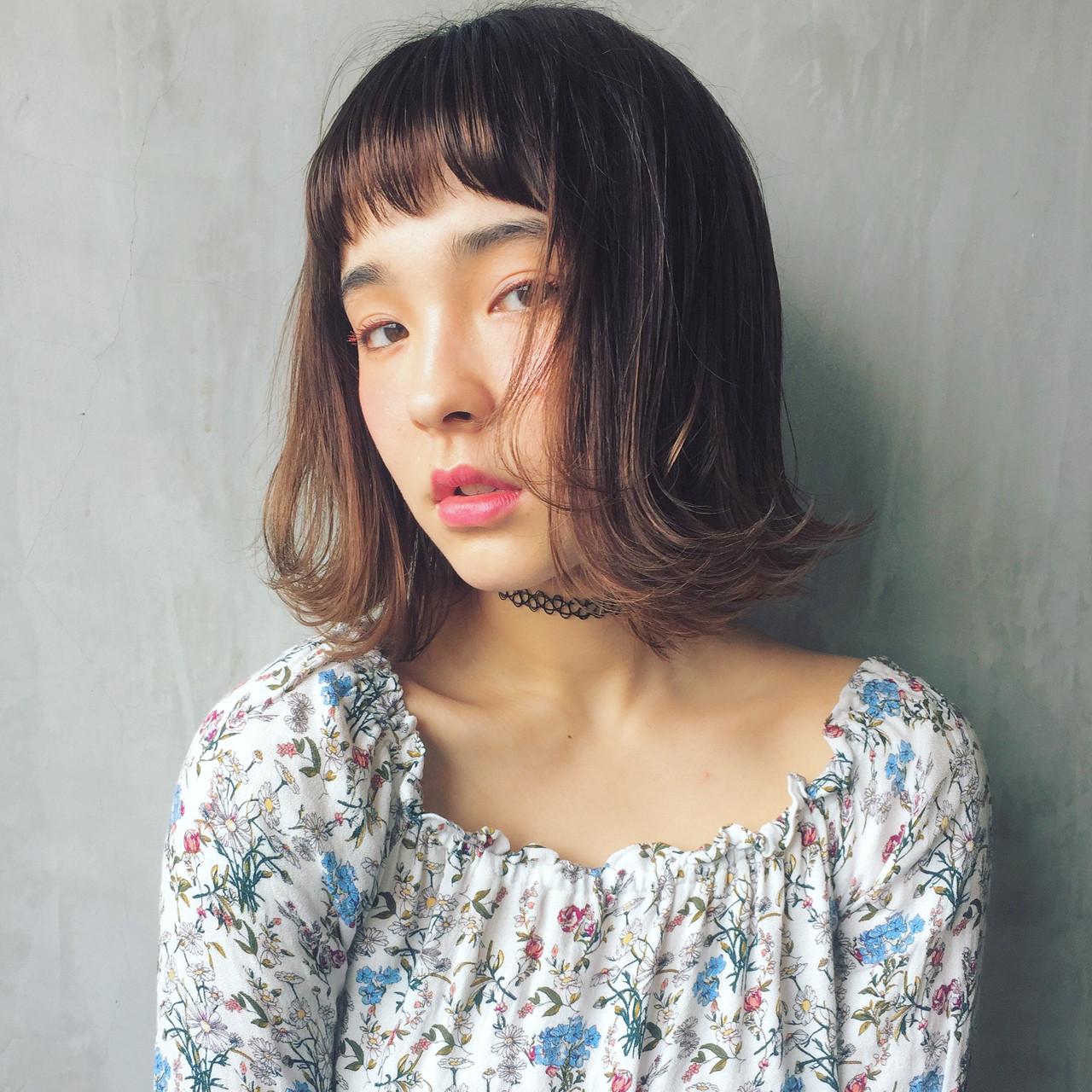 ガーリー 外ハネ ヘアアレンジ ハイライト ヘアスタイルや髪型の写真・画像