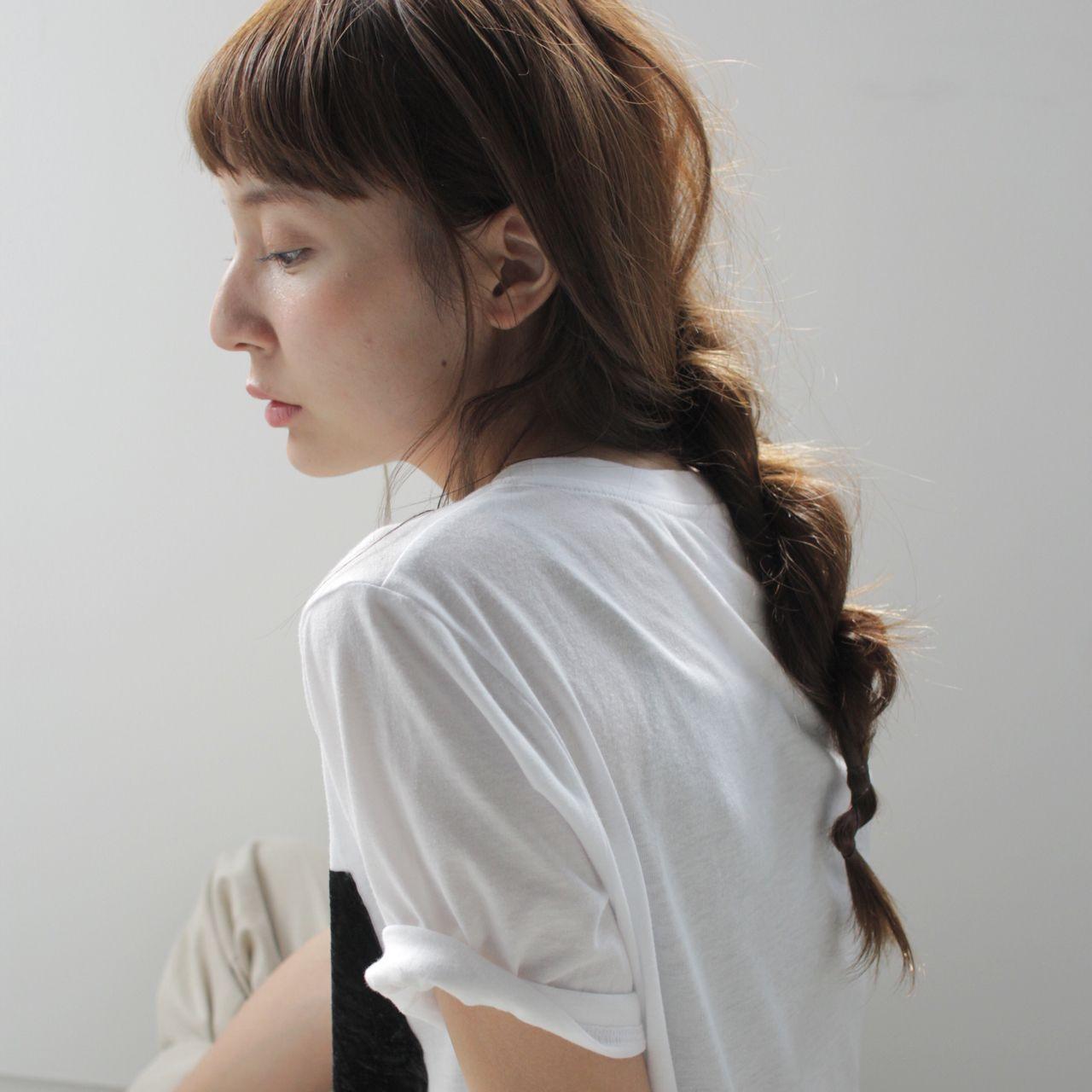 ストリート ヘアアレンジ ロング 編み込み ヘアスタイルや髪型の写真・画像