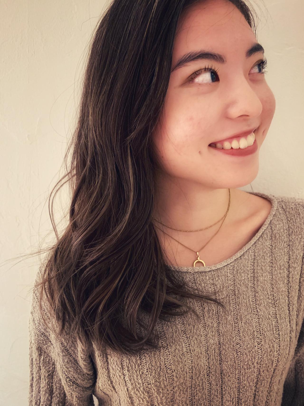 エレガント ロング デート 外国人風カラー ヘアスタイルや髪型の写真・画像
