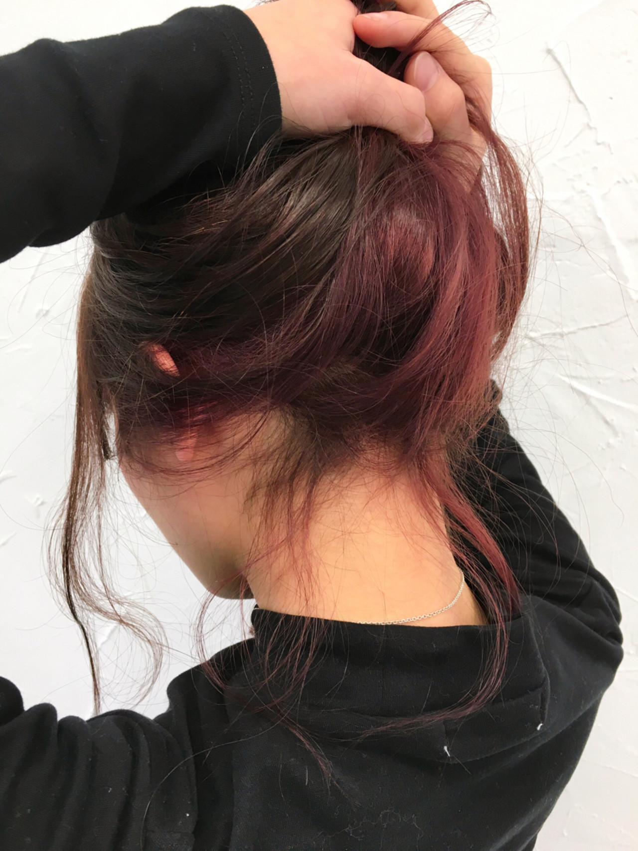 ストリート 色気 ハーフアップ ミディアム ヘアスタイルや髪型の写真・画像
