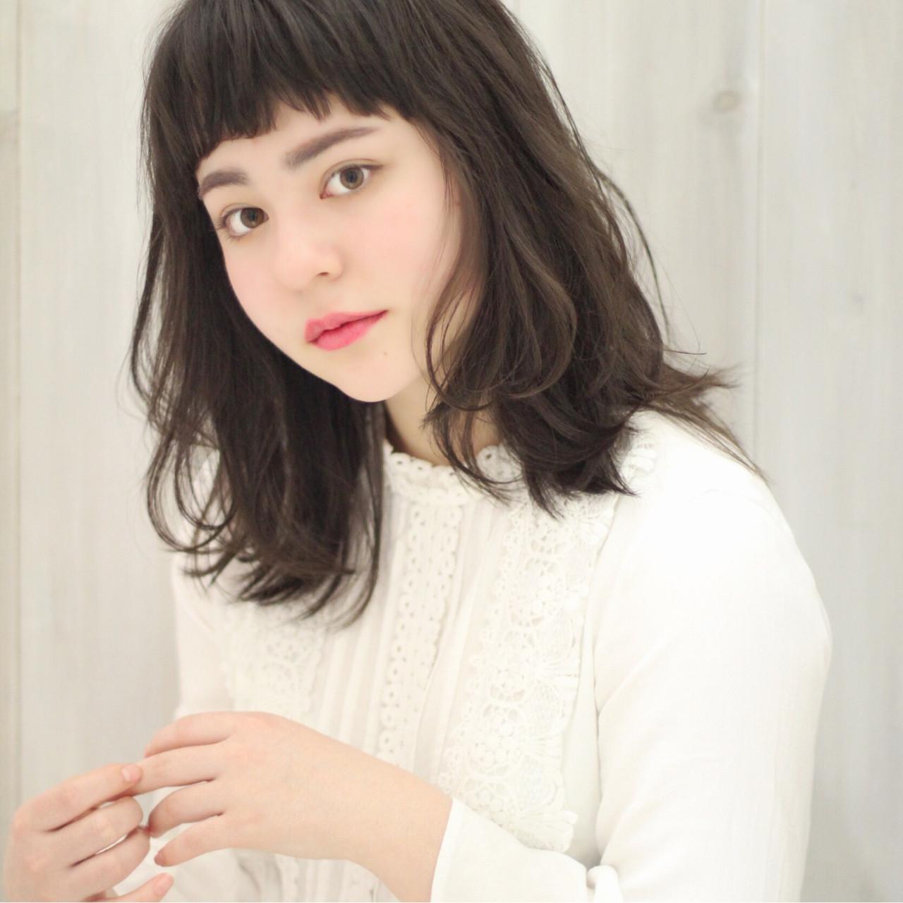 ふわふわ 小顔 フェミニン ウェーブ ヘアスタイルや髪型の写真・画像 | 中村 美穂 / k-two