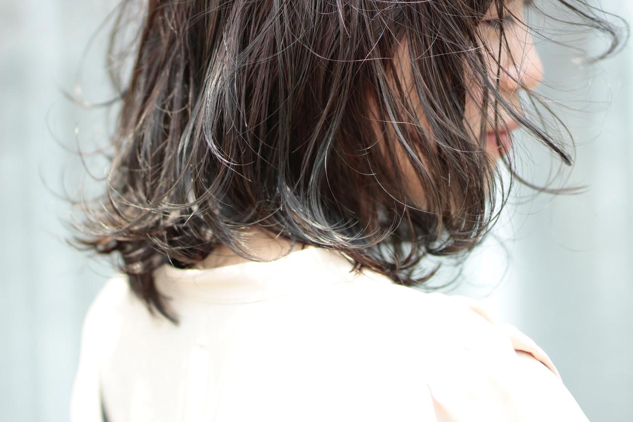 モテ髪 ナチュラル スライシングハイライト セミロング ヘアスタイルや髪型の写真・画像