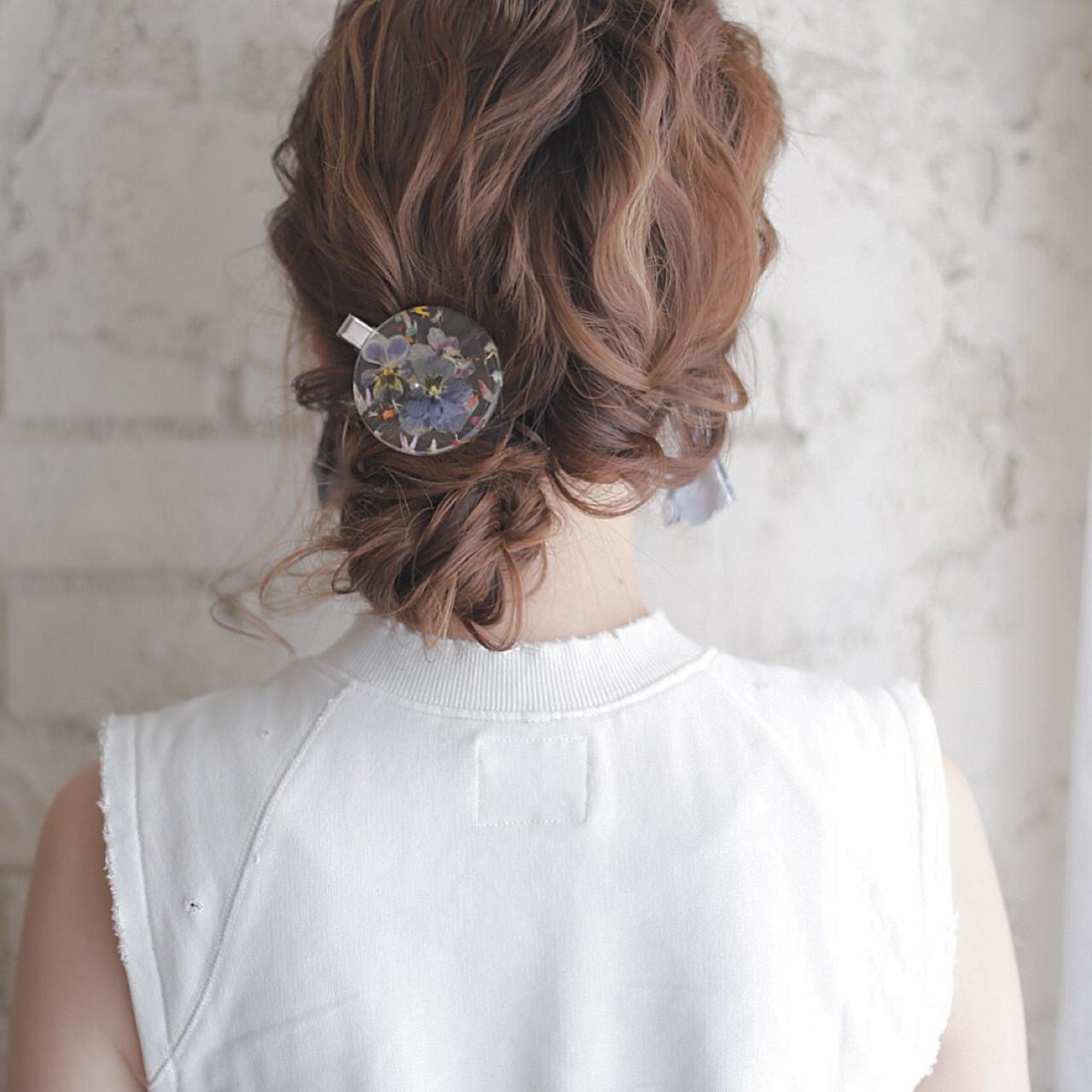 ゆるふわ フェミニン ミディアム ショート ヘアスタイルや髪型の写真・画像