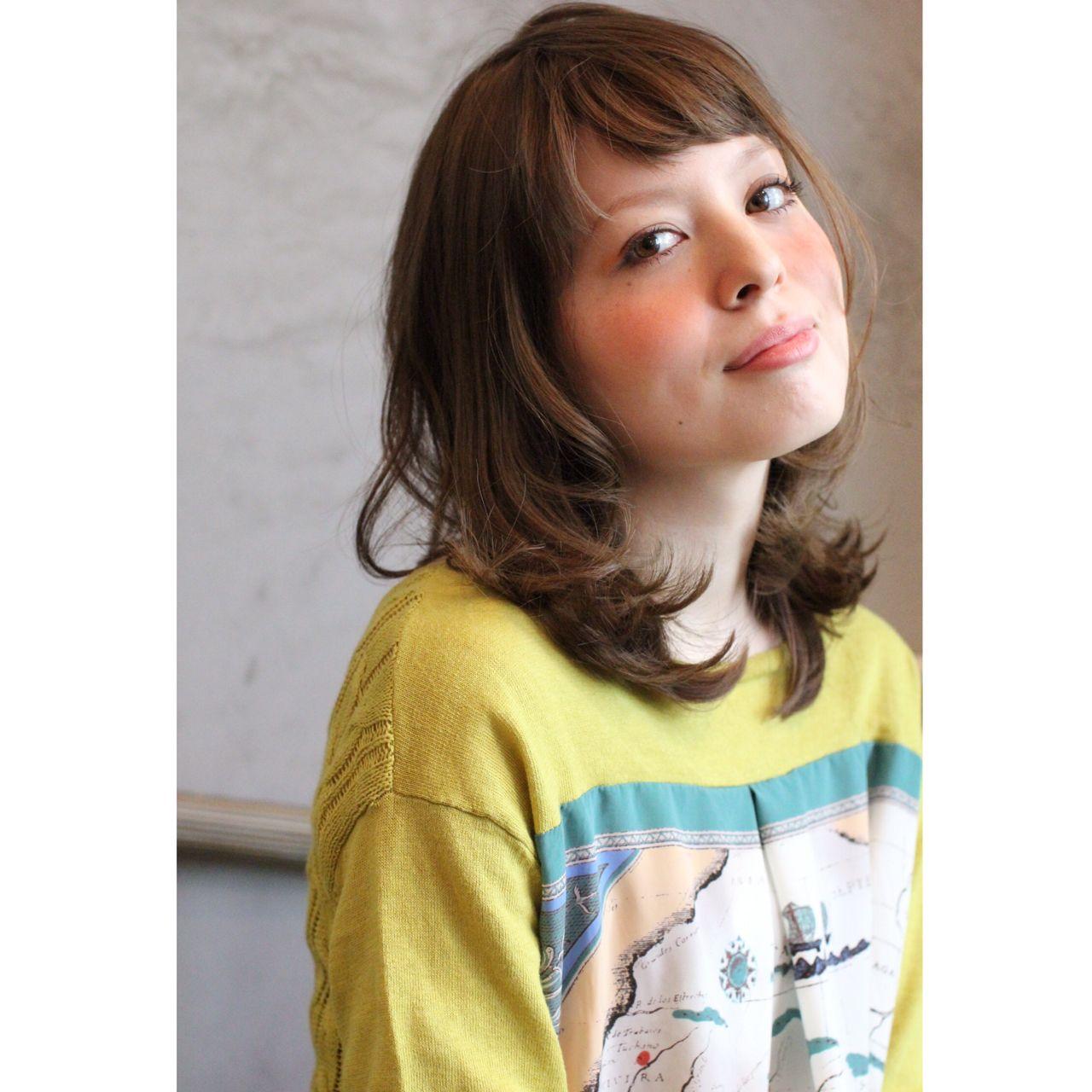 コンサバ 大人かわいい セミロング 愛され ヘアスタイルや髪型の写真・画像 | Aya_Acotto / Acotto La'bas