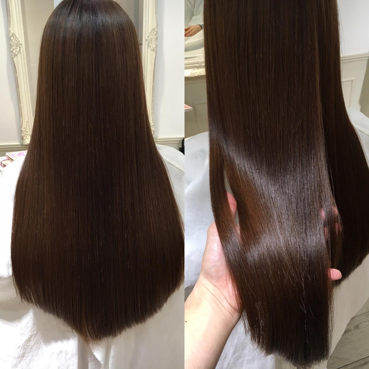 トリートメント 艶髪 パーマ ナチュラル ヘアスタイルや髪型の写真・画像