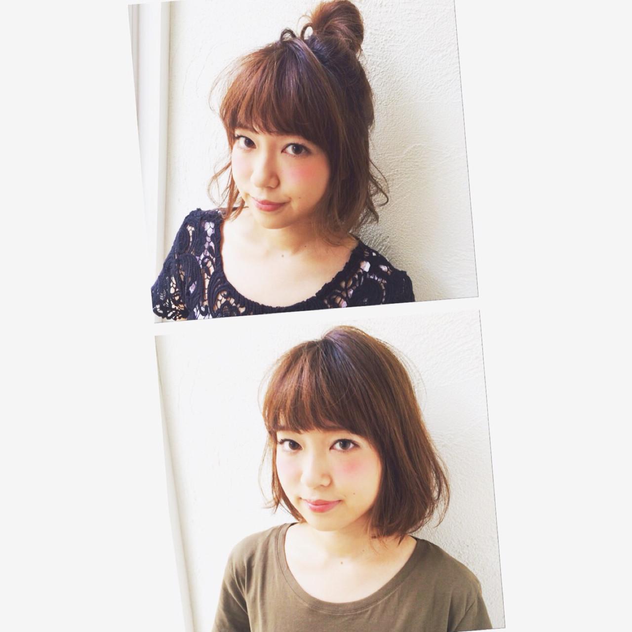 ふわふわ ヘアアレンジ ストリート ショート ヘアスタイルや髪型の写真・画像 | 切りっぱなしボブを流行らせた人 Un ami増永 / Un ami omotesando