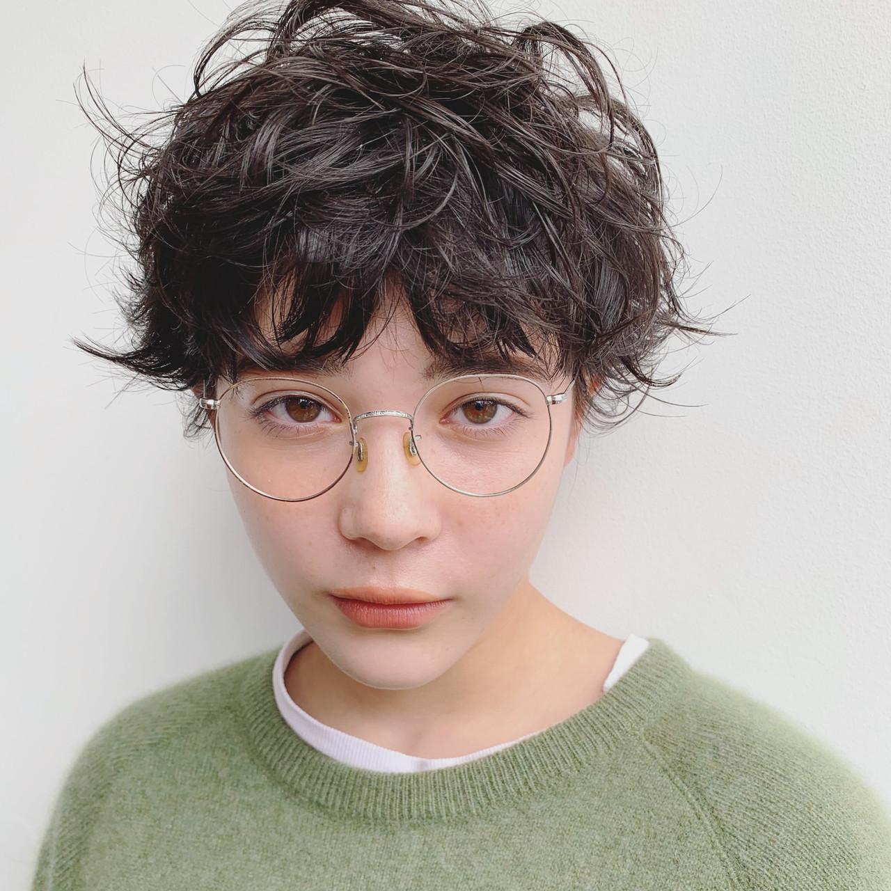 ストリート 外国人風 ショート オン眉 ヘアスタイルや髪型の写真・画像