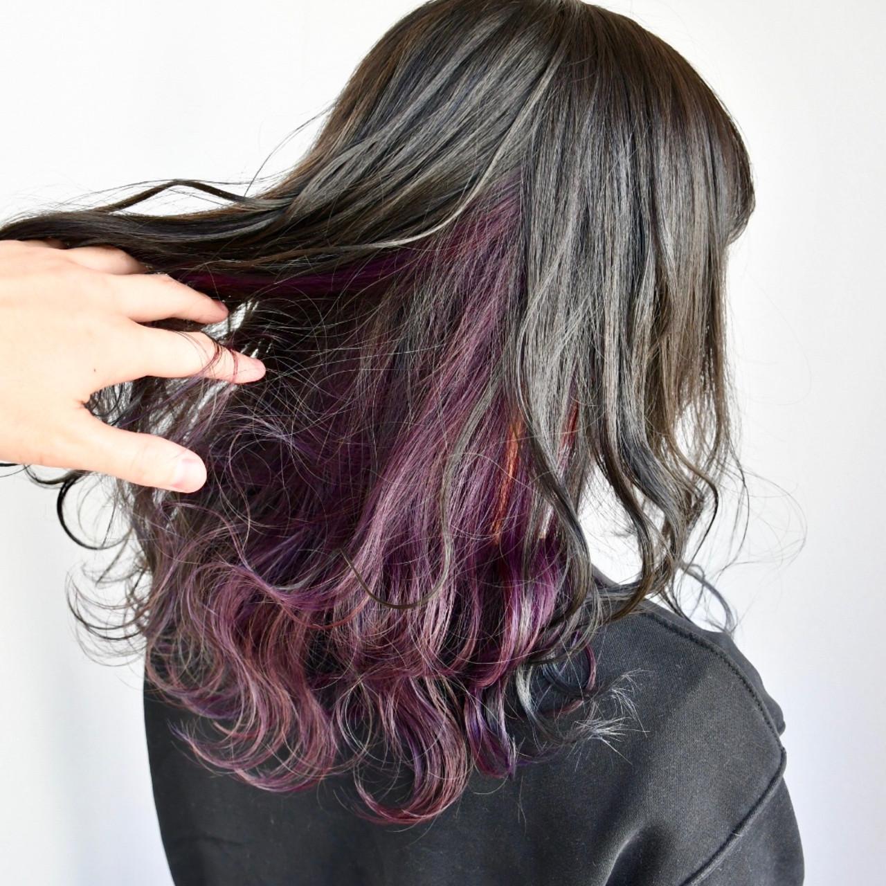 ゆるふわ ガーリー グラデーションカラー デート ヘアスタイルや髪型の写真・画像