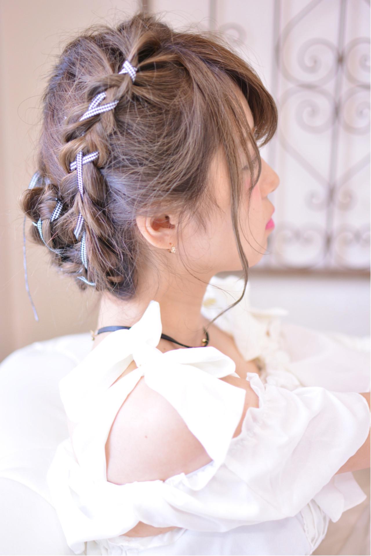 デート ヘアアレンジ 透明感 ロング ヘアスタイルや髪型の写真・画像