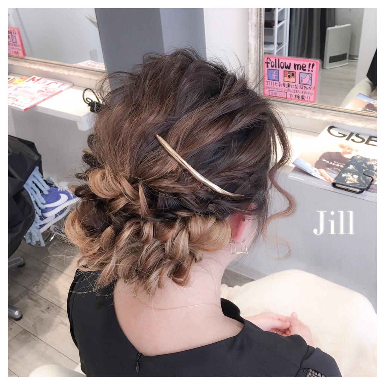 簡単ヘアアレンジ ヘアアレンジ ロング 結婚式 ヘアスタイルや髪型の写真・画像 | 花房 佑典 / Jill / Hair Design Jill