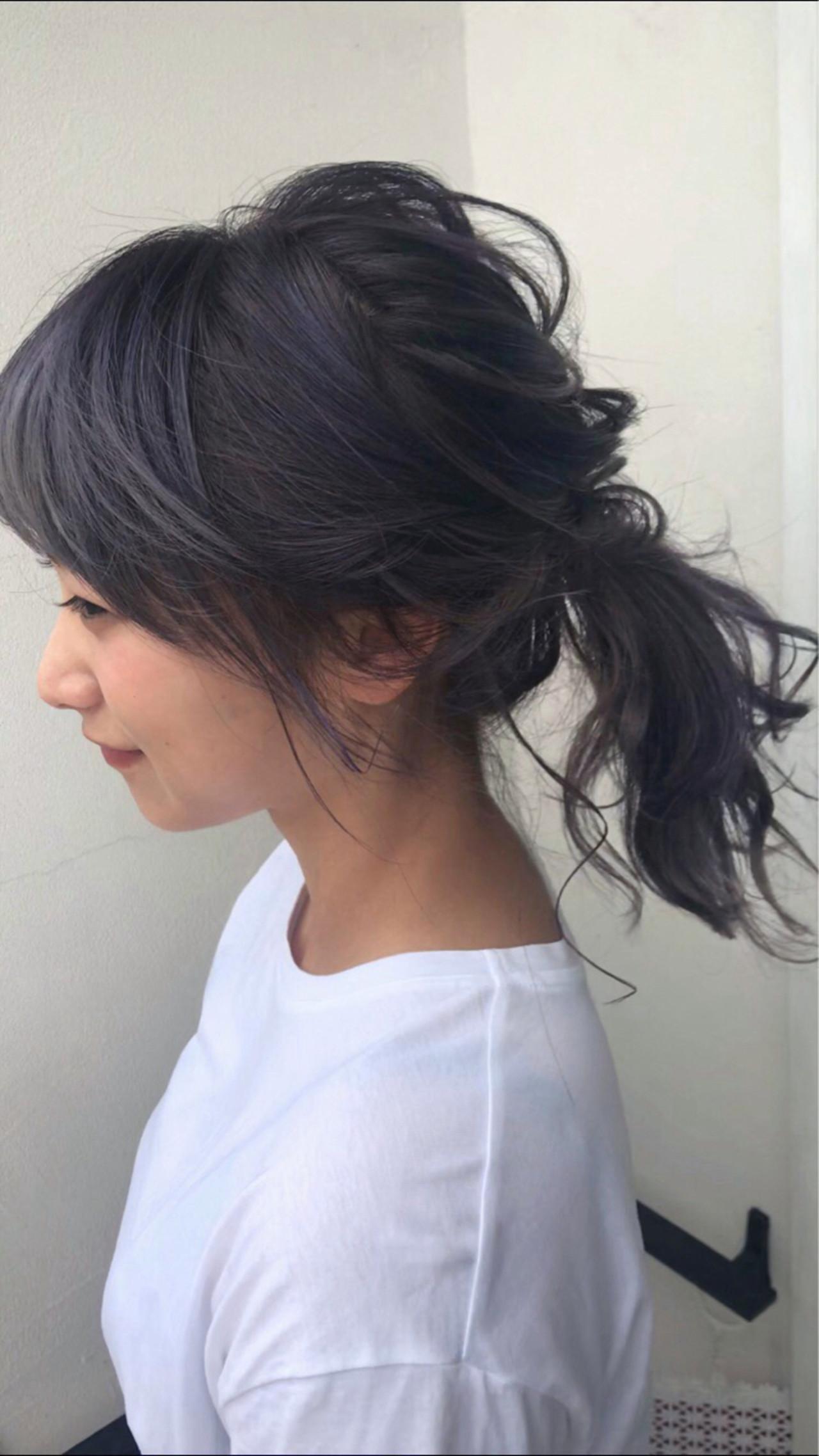 夏 簡単ヘアアレンジ フェミニン ヘアアレンジ ヘアスタイルや髪型の写真・画像 | 小林 明弘 / cyan