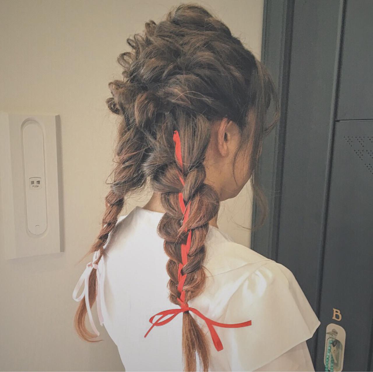 ショート ゆるふわ 簡単ヘアアレンジ ロング ヘアスタイルや髪型の写真・画像