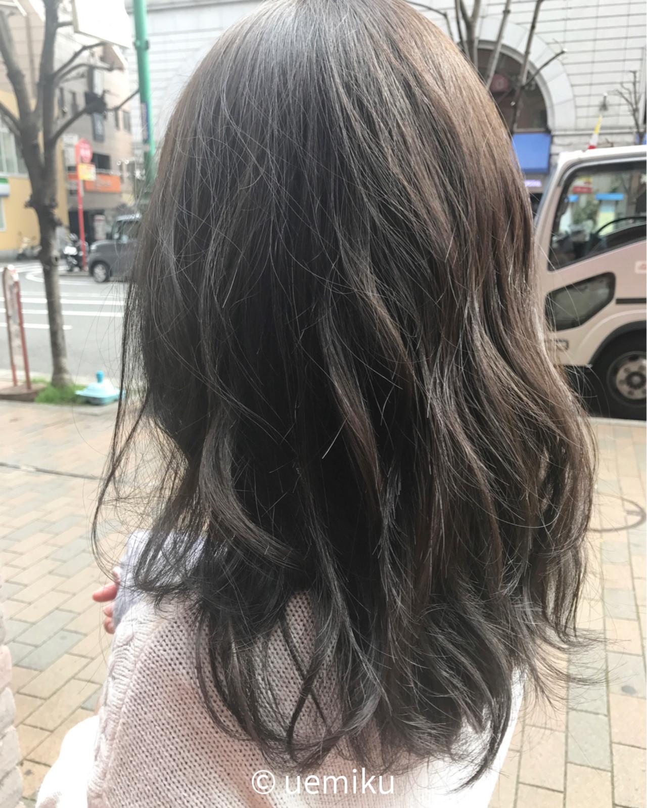 アッシュ ウェーブ 外国人風カラー 外国人風 ヘアスタイルや髪型の写真・画像 | uemiku / kelly's green