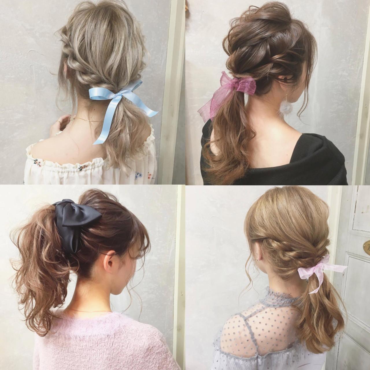 ポニーテール 女子会 デート ロング ヘアスタイルや髪型の写真・画像 | hii.de@✂︎ / Maison de sisi