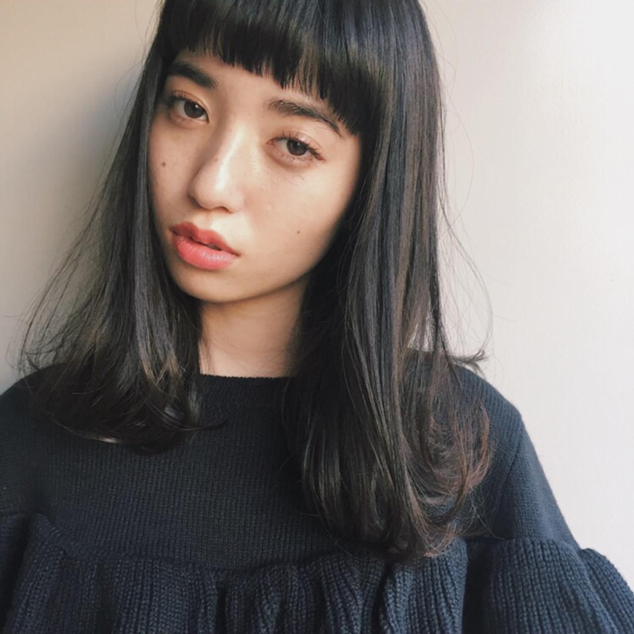 黒髪 ストリート 前髪あり ワイドバング ヘアスタイルや髪型の写真・画像 | 市木ありさ / FLOWERS