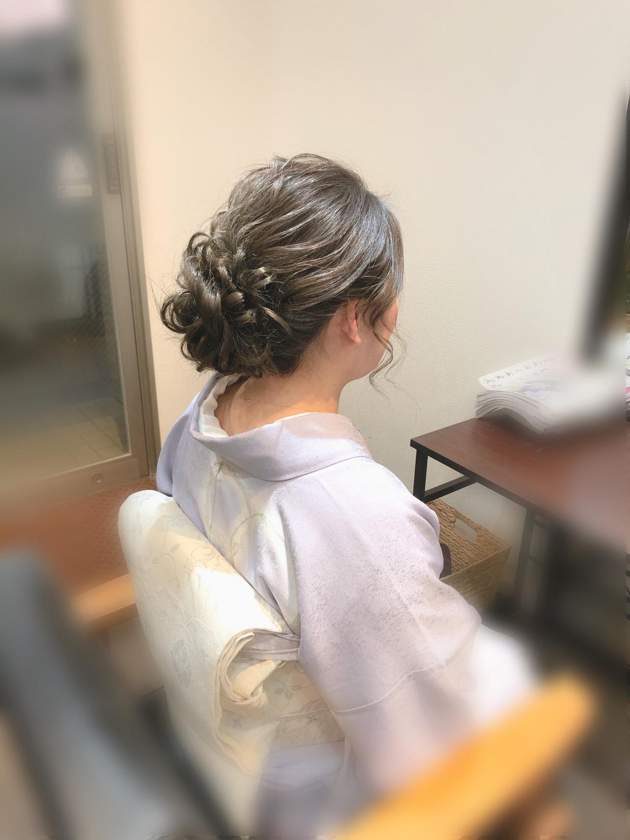 ヘアセット アップスタイル 和装 フェミニン ヘアスタイルや髪型の写真・画像 | mai / HAIR SALON STELLA