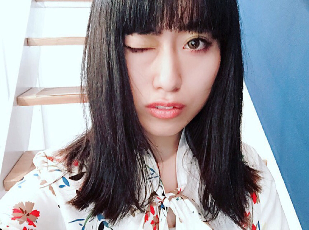 切りっぱなし ロブ モード セミロング ヘアスタイルや髪型の写真・画像 | Michiko Fukuda /