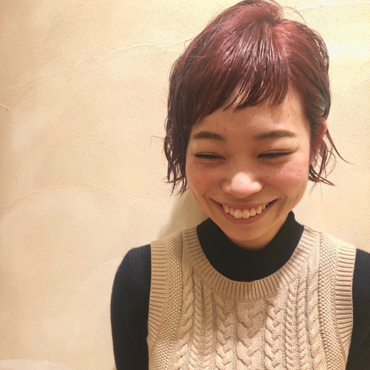 束感バング ショートバング 前髪 斜め前髪 ヘアスタイルや髪型の写真・画像
