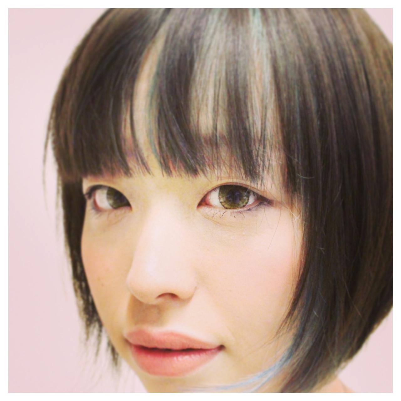 ハイライト ストリート 暗髪 ブラウン ヘアスタイルや髪型の写真・画像