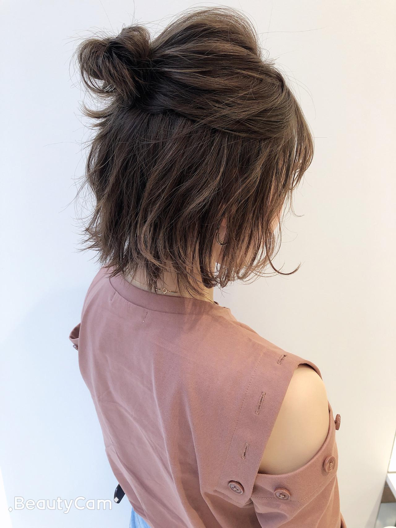 ボブ デート ナチュラル オフィス ヘアスタイルや髪型の写真・画像 | 関亜梨佐 / Lano by HAIR