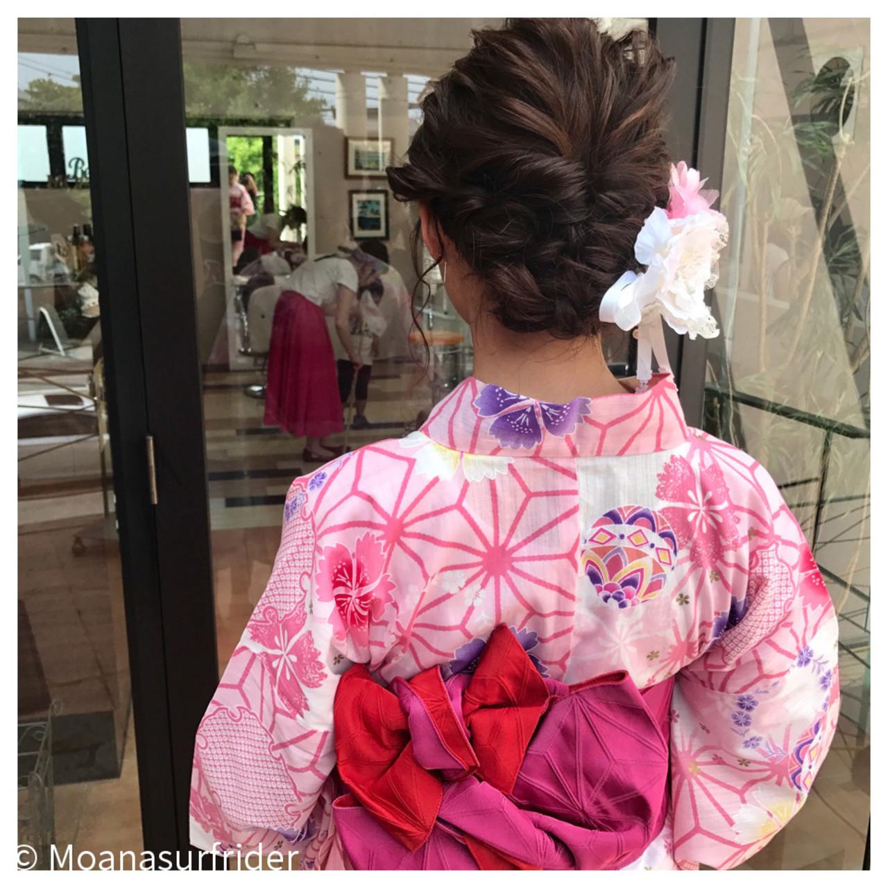 ヘアアレンジ 夏 色気 花火大会 ヘアスタイルや髪型の写真・画像