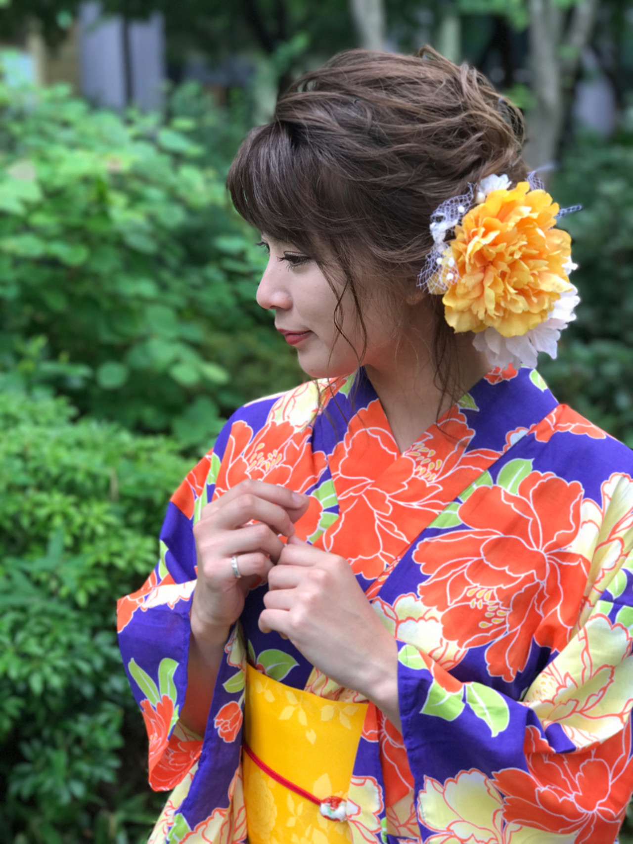ヘアアレンジ アップスタイル ミディアム 和装 ヘアスタイルや髪型の写真・画像