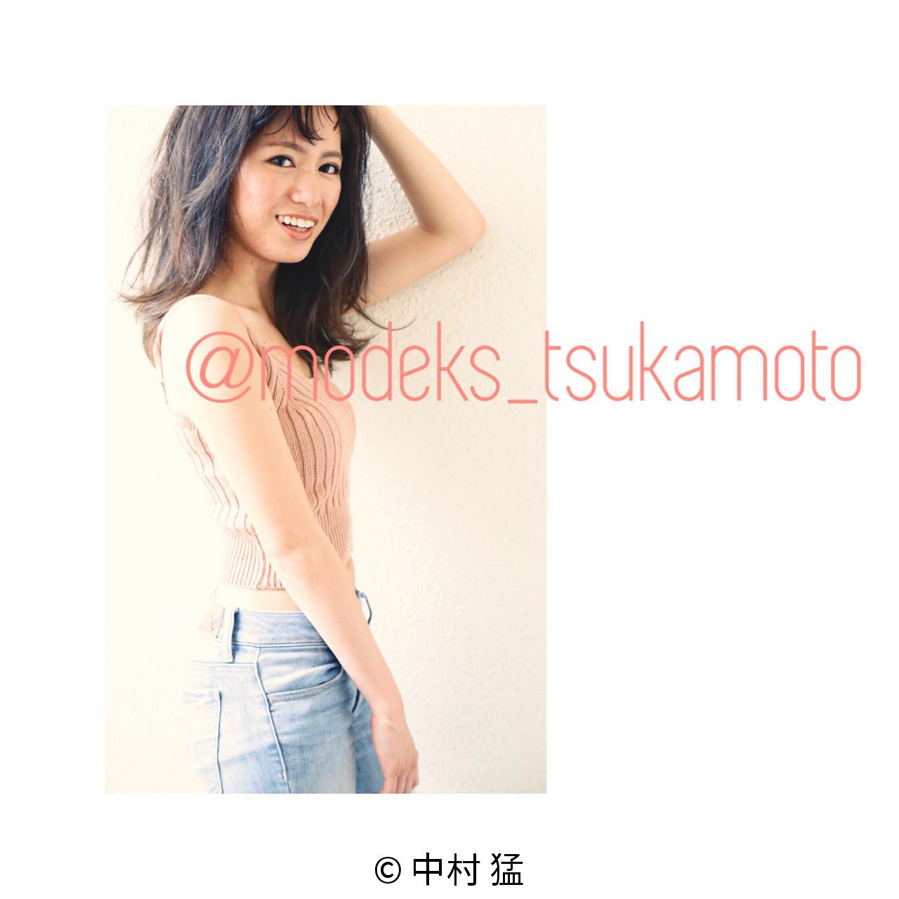 ミディアム ナチュラル 夏 ラフ ヘアスタイルや髪型の写真・画像   中村 猛 / MODE K's 塚本店 (モードケイズ)