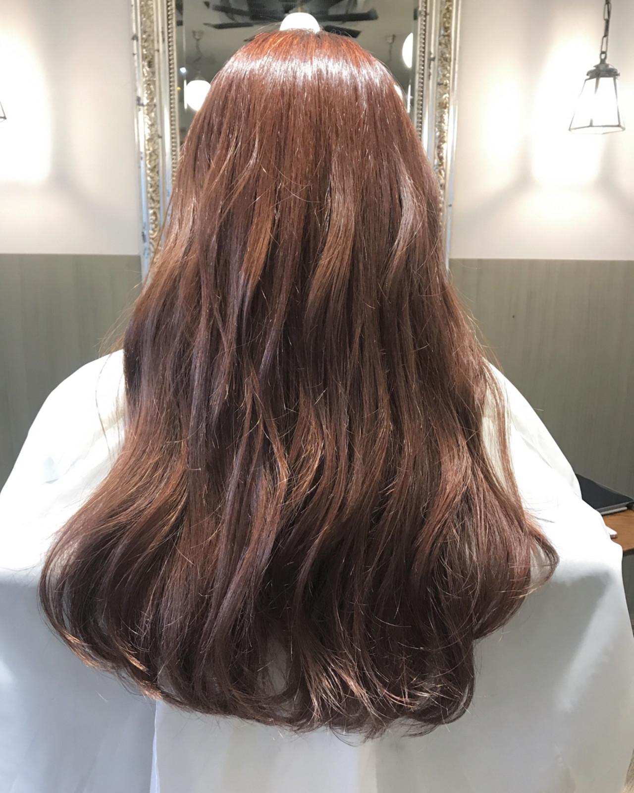 外国人風カラー 簡単ヘアアレンジ カール ピンク ヘアスタイルや髪型の写真・画像 | 伊藤絵里子 / moon hair styling salon