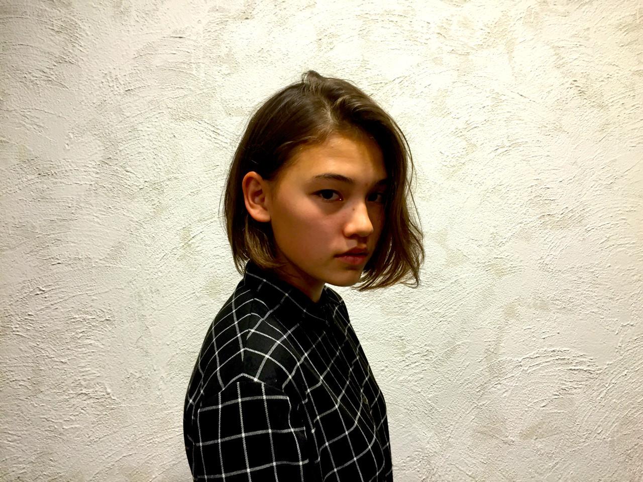 外国人風 ストリート ボブ 外ハネ ヘアスタイルや髪型の写真・画像