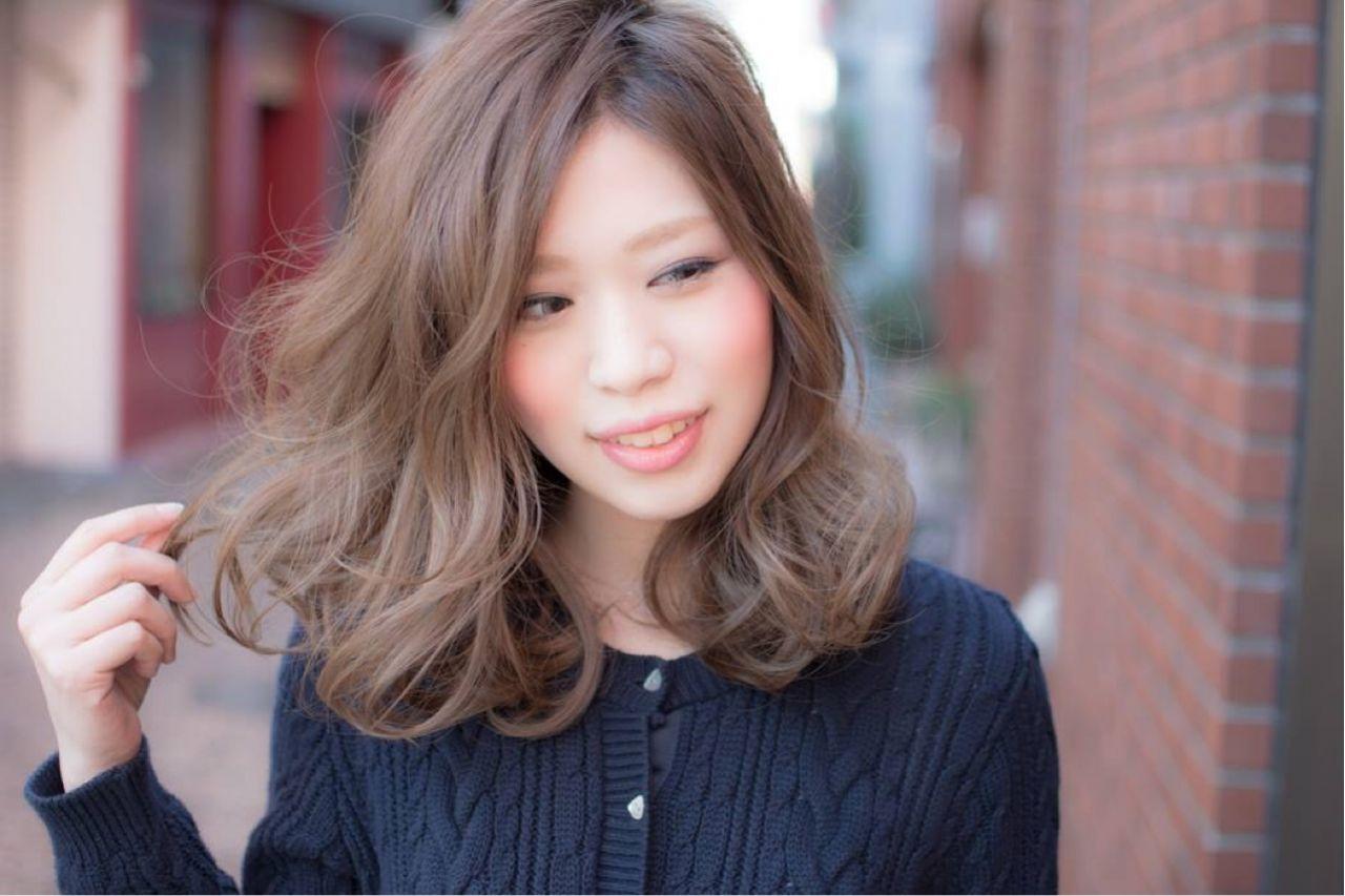 秋 モード 愛され ミディアム ヘアスタイルや髪型の写真・画像 | 田渕 英和/vicushair / vicushair
