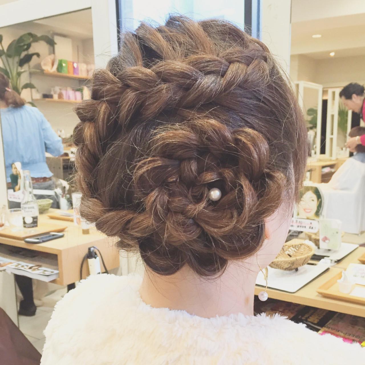 結婚式 ショート ヘアアレンジ パーティ ヘアスタイルや髪型の写真・画像