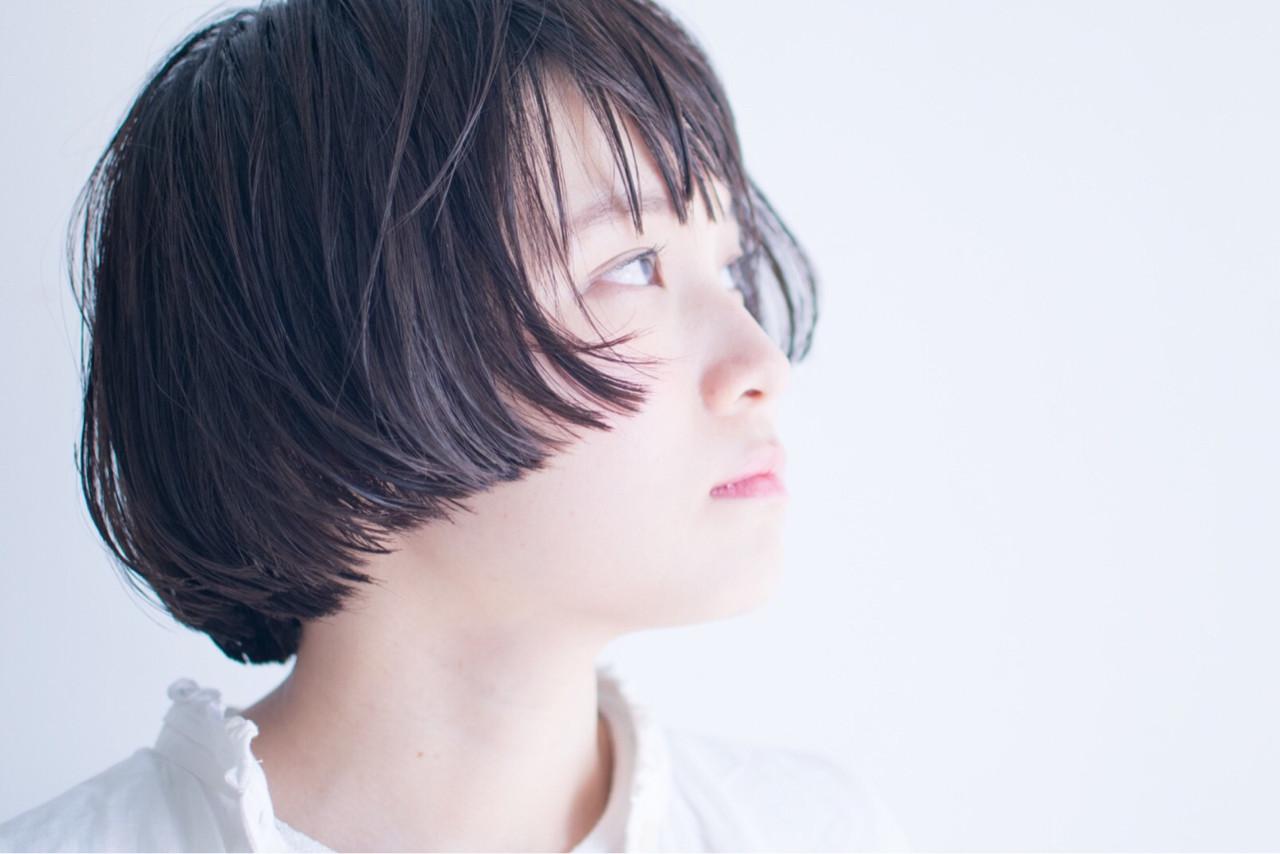 マッシュ 黒髪 ブラントカット ストリート ヘアスタイルや髪型の写真・画像 | anti_RIKUSHI / ANTI