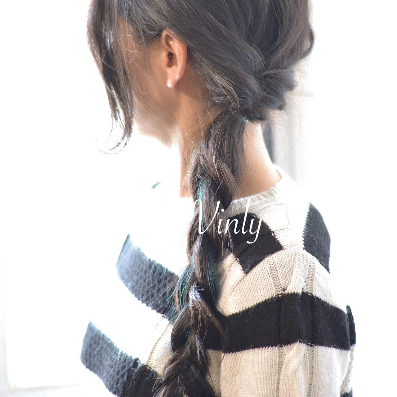 デート ロング ヘアアレンジ ナチュラル ヘアスタイルや髪型の写真・画像 | norihiko yoshimoto / Vinly hair salon