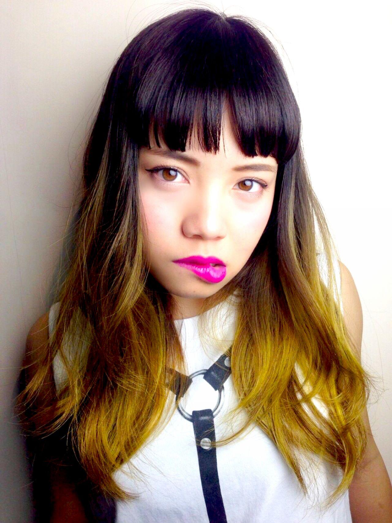 外国人風 ストリート オレンジ イエロー ヘアスタイルや髪型の写真・画像