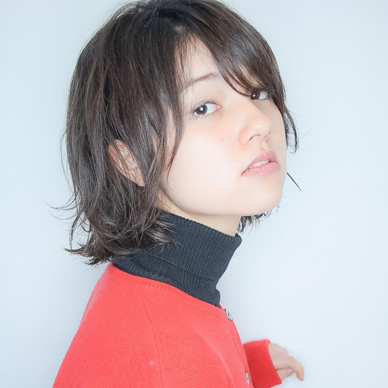 ナチュラル ショートボブ ボブ モテボブ ヘアスタイルや髪型の写真・画像 | 【素材コンシェルジュ型/ショートの極】川島佑一 / Lounge×morio ikebukuro
