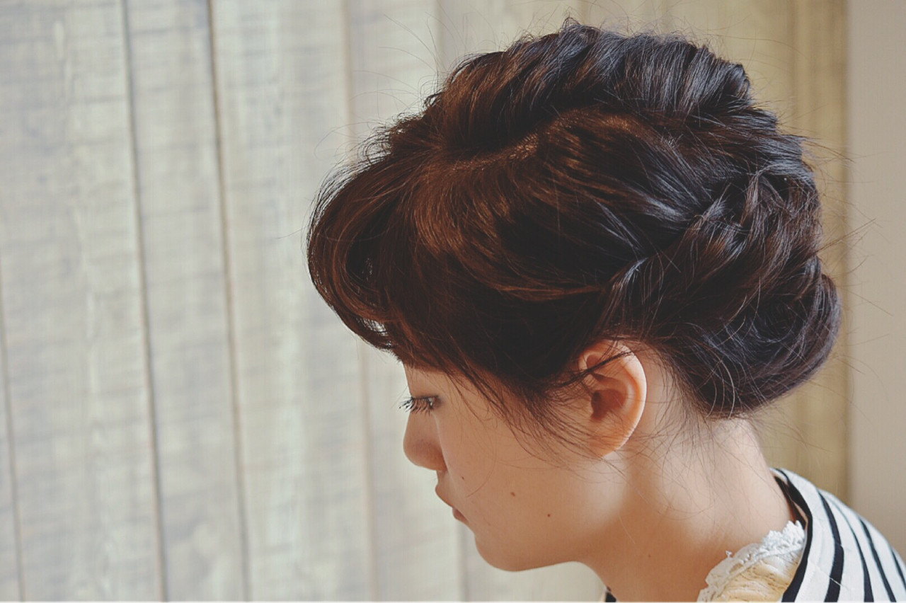 ボブ 簡単ヘアアレンジ 結婚式 ショート ヘアスタイルや髪型の写真・画像 | Risa Nakamura / GOZO HAIR