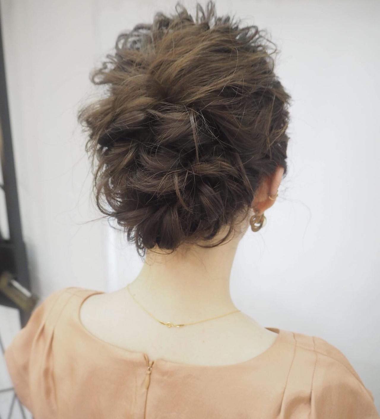ナチュラル ヘアアレンジ 結婚式 簡単ヘアアレンジ ヘアスタイルや髪型の写真・画像