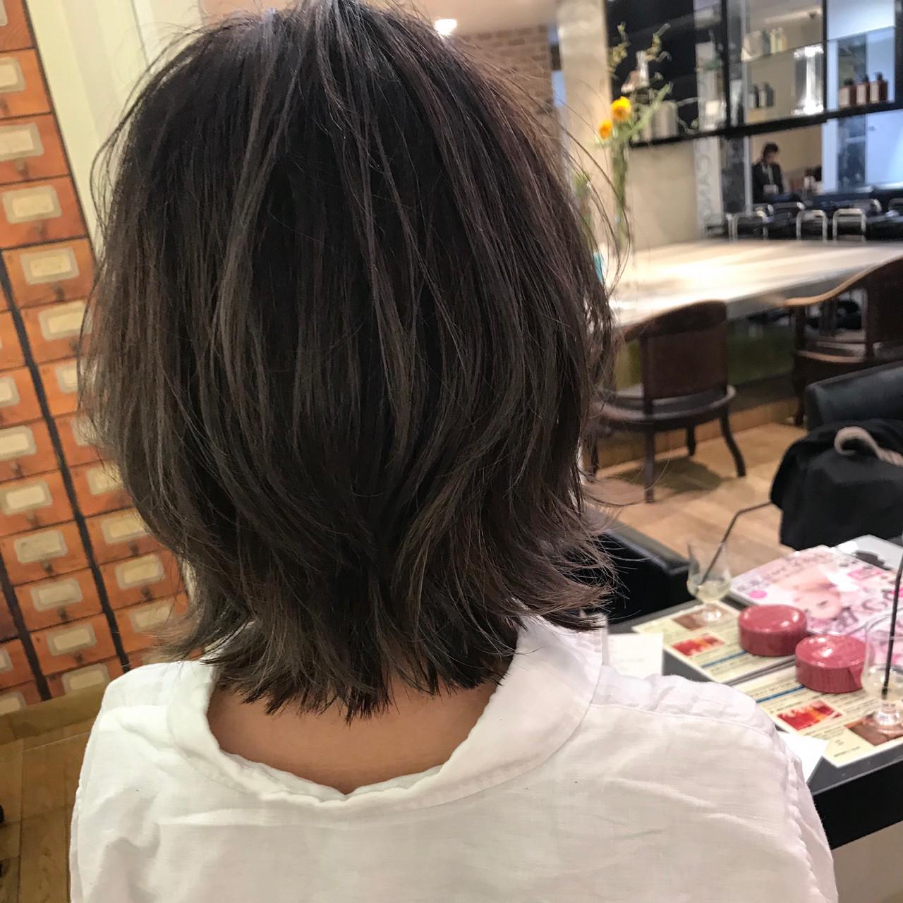 フェミニン ボブ エフォートレス 大人かわいい ヘアスタイルや髪型の写真・画像