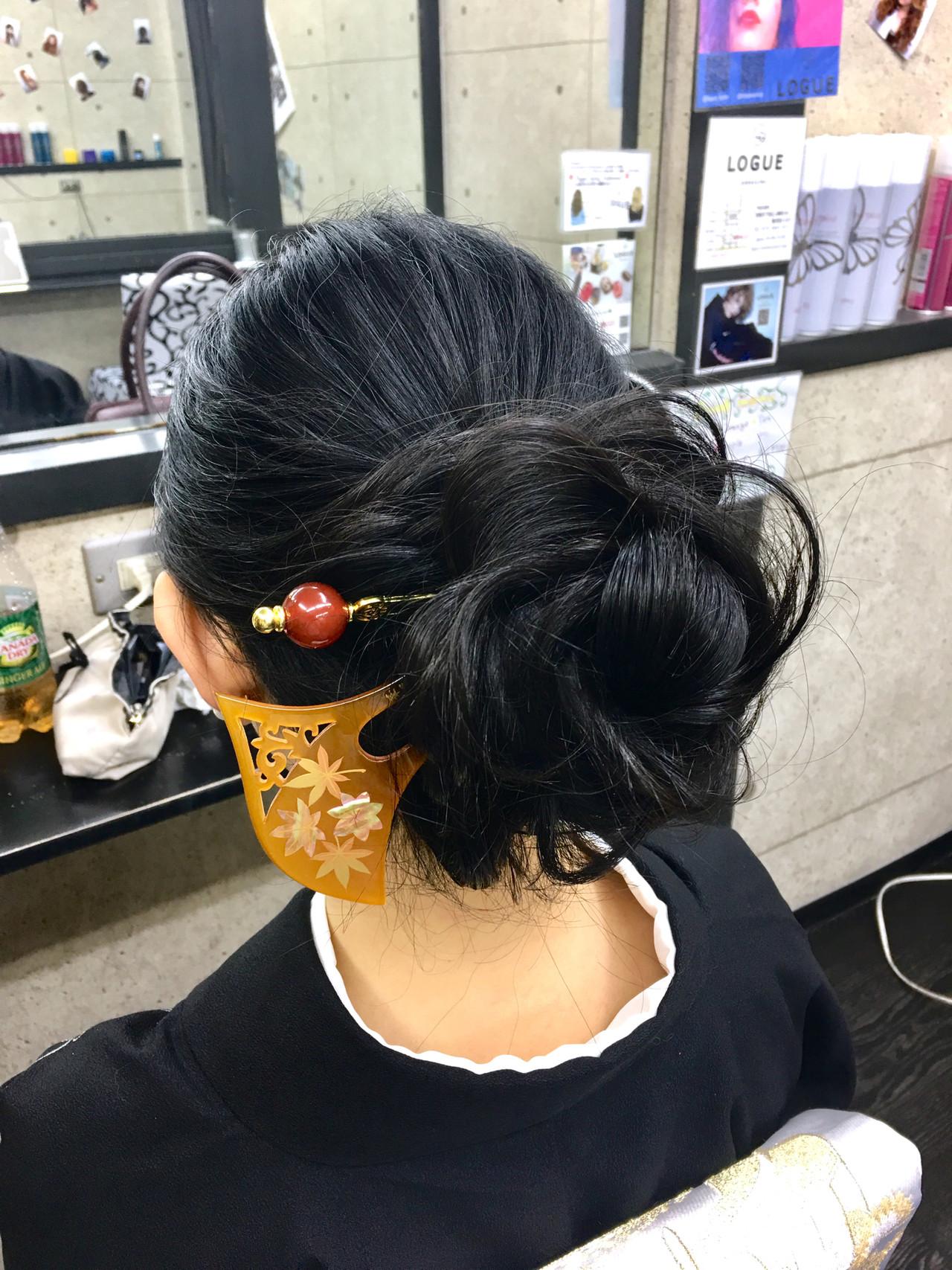 ロング 和装 卒業式 エレガント ヘアスタイルや髪型の写真・画像