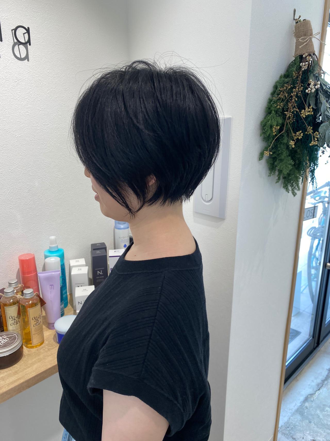 ミニボブ ショートヘア ショート ショートボブ ヘアスタイルや髪型の写真・画像   金子ひろゆき / sola