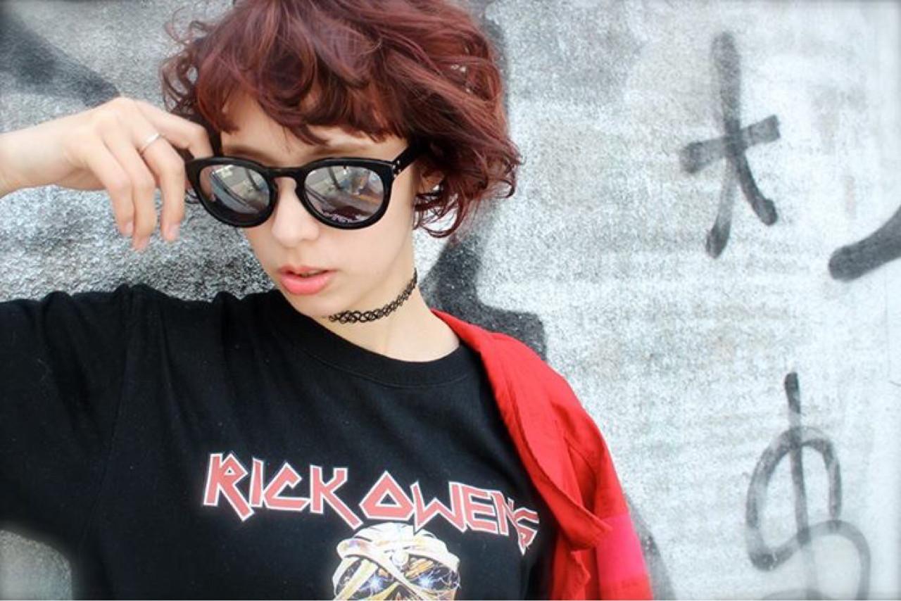 グラデーションカラー 外国人風 ボブ パーマ ヘアスタイルや髪型の写真・画像