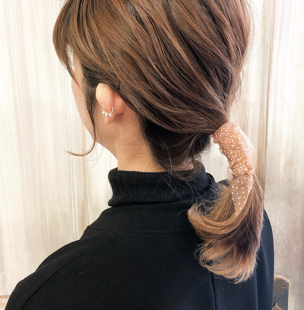 ミディアム ブリーチカラー ミルクティーベージュ ベージュ ヘアスタイルや髪型の写真・画像 | 稲見麻利子 / kotona