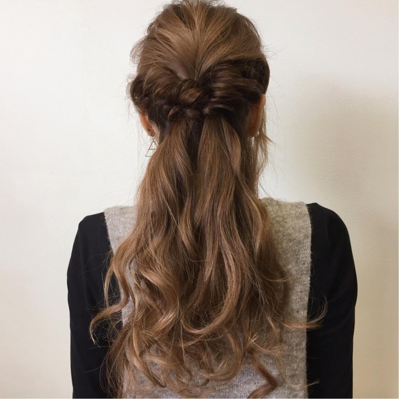 ショート 大人かわいい ハーフアップ ヘアアレンジ ヘアスタイルや髪型の写真・画像