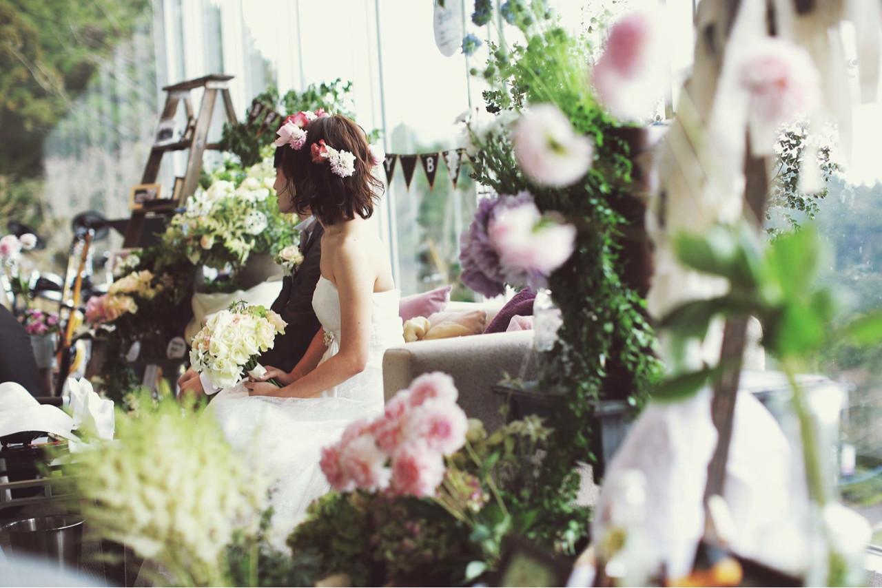 ボブ ブライダル 結婚式 花嫁 ヘアスタイルや髪型の写真・画像 | ayano ura / hairmakeFULL