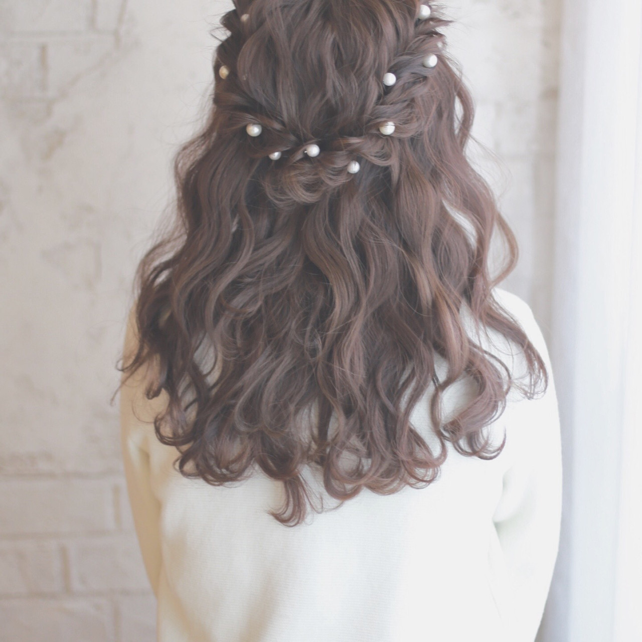 ショート ロング ヘアアレンジ パールアクセ ヘアスタイルや髪型の写真・画像 | 谷本将太 nalu hair / nalu hair  (ナルーヘアー)