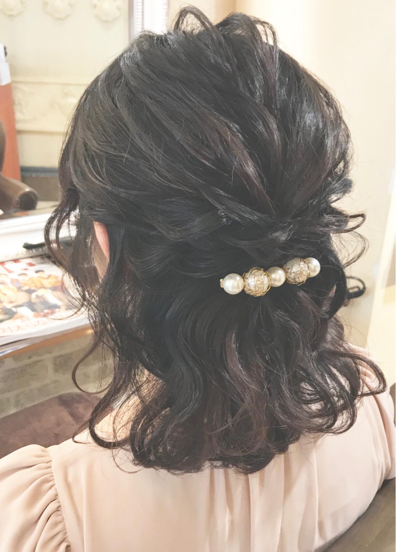 ヘアアレンジ 結婚式 ガーリー 黒髪 ヘアスタイルや髪型の写真・画像 | ヤマキタ トシキ Neolive / Neolive CiroL.