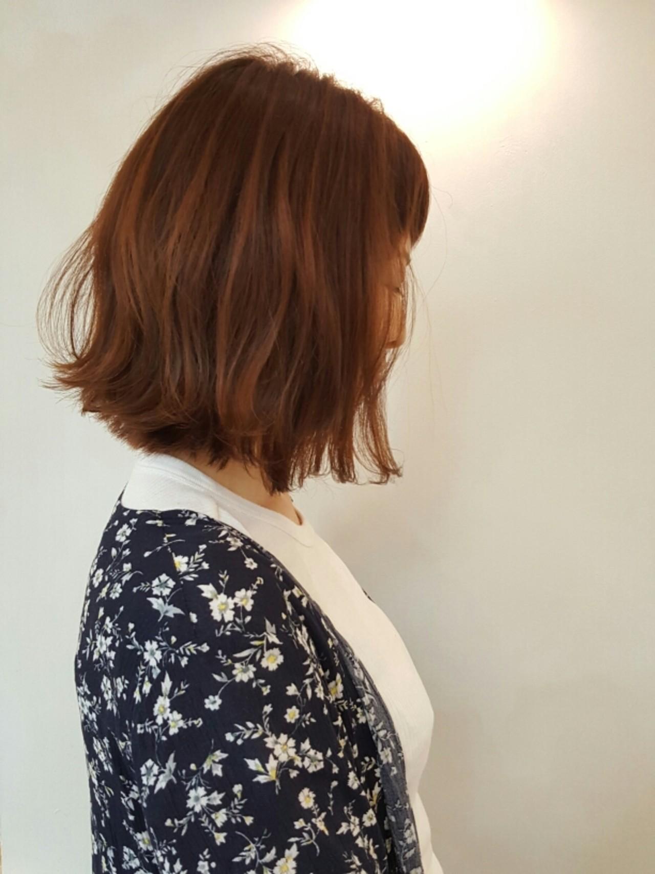 レッド ボブ デート ピンク ヘアスタイルや髪型の写真・画像