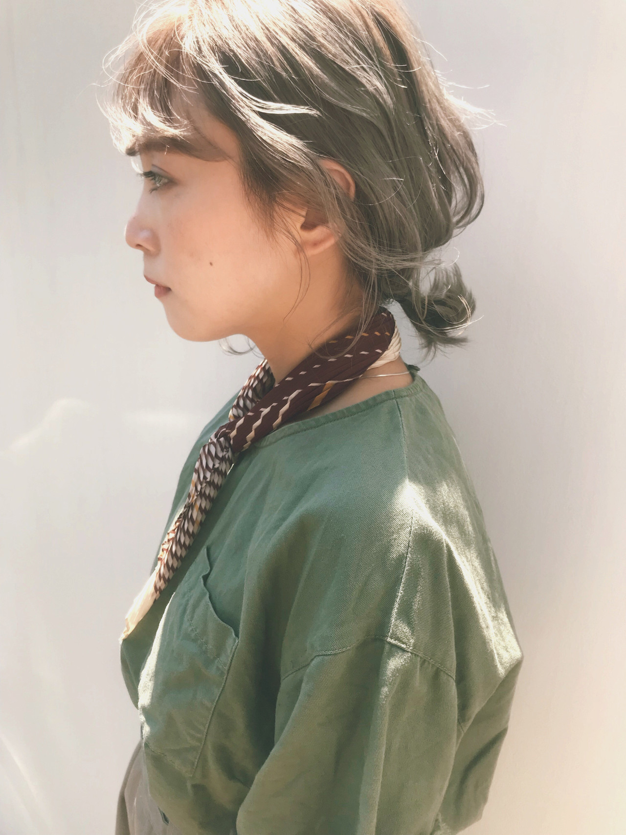 簡単ヘアアレンジ ヘアアレンジ ナチュラル ミディアム ヘアスタイルや髪型の写真・画像