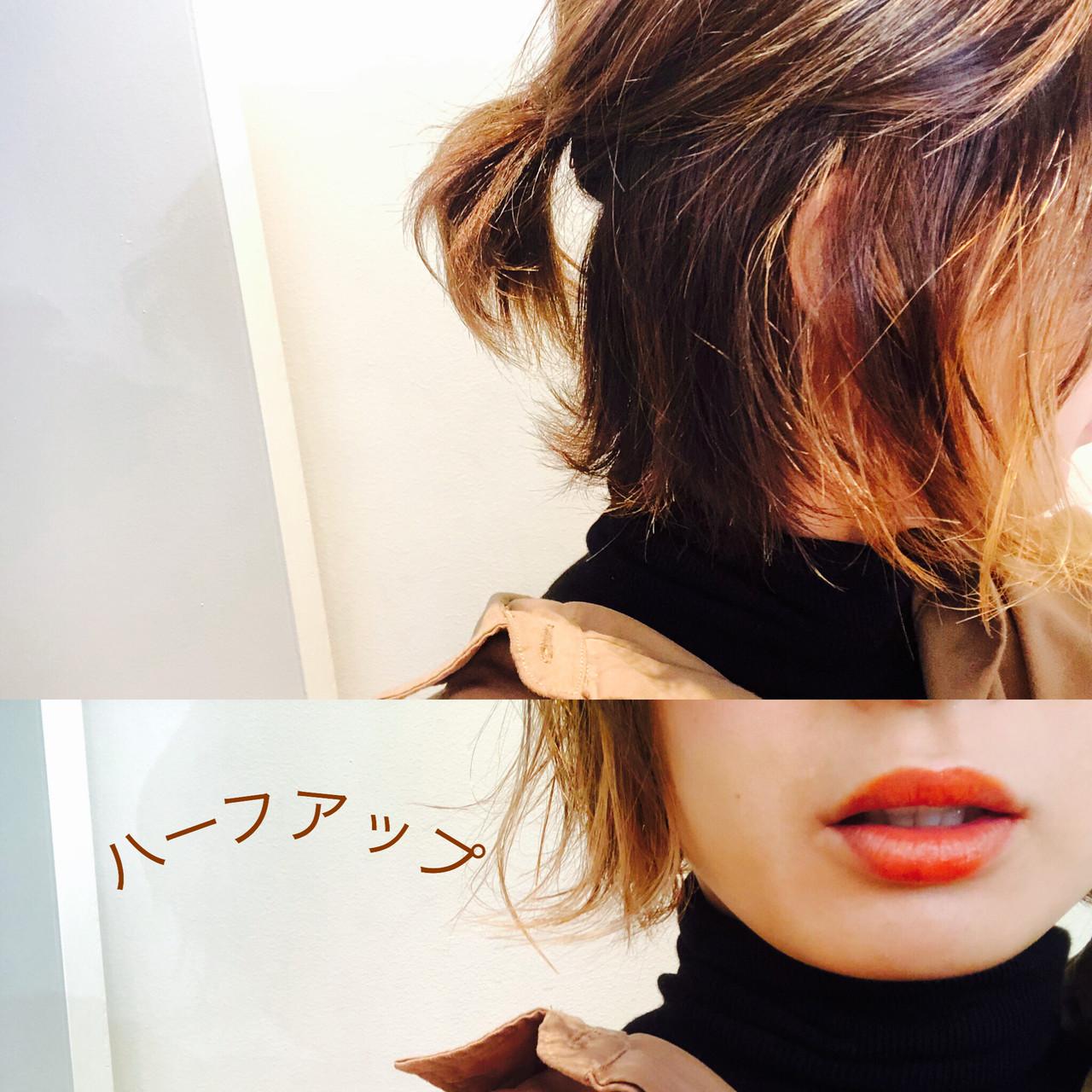 ナチュラル ヘアアレンジ ショート ハンサムショート ヘアスタイルや髪型の写真・画像