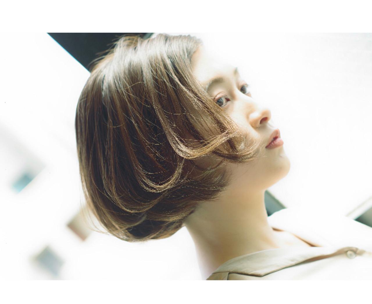 モテボブ ミニボブ アンニュイ ナチュラル ヘアスタイルや髪型の写真・画像 | ken / sora